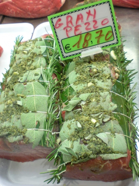 Awesome...beef tenderloin wrapped in fresh herbs