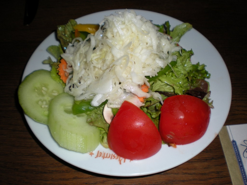 Delicious salad with caraway seed