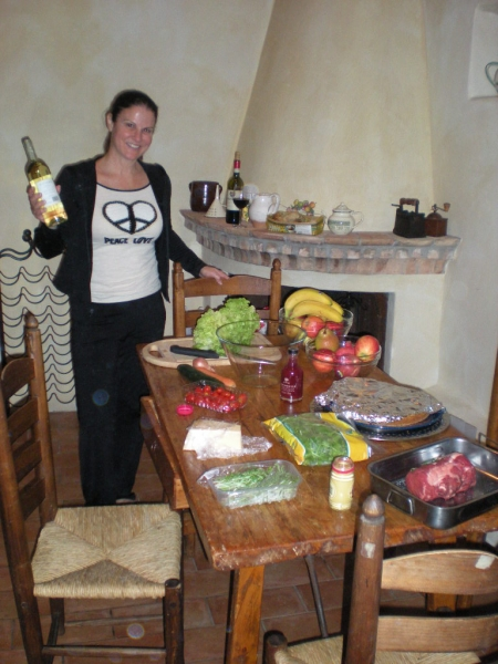 Cooking and drinking wine