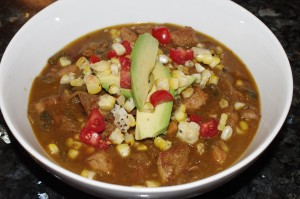 Green Chili Pork with corn 003