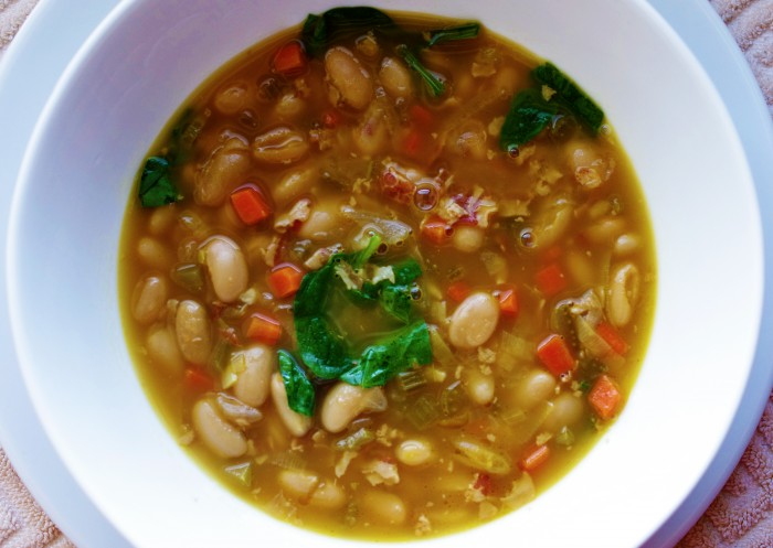 Photoshopped Tuscan white bean soup