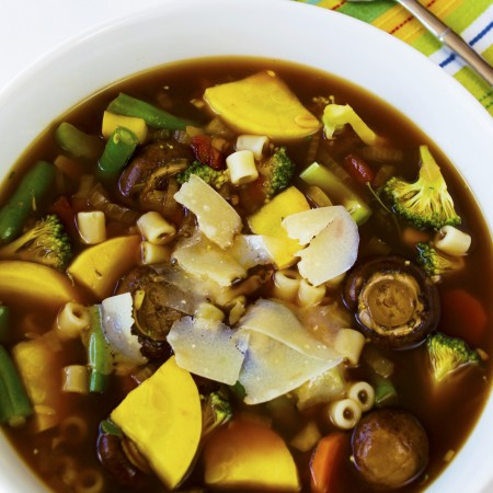 Photoshopped for web summer vegetable soup